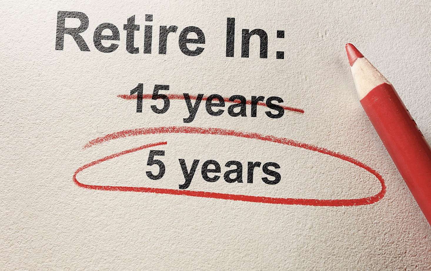 Paper with retirement circled